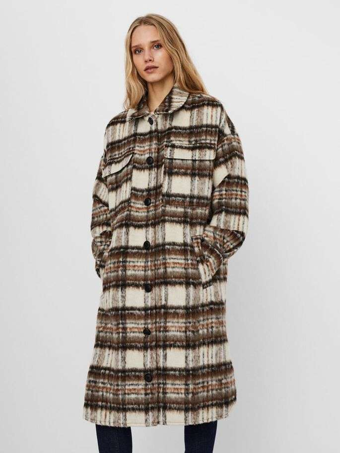 Gemma check long jacket