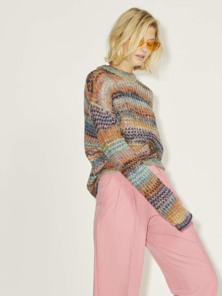 simone space dye crew neck knit