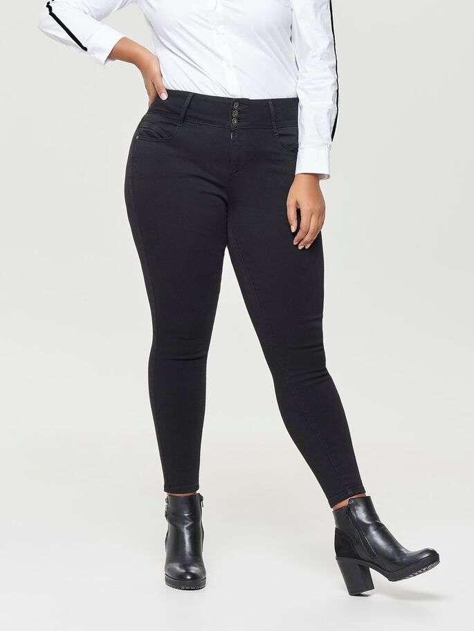 Anna higwaist ankel jeans svart