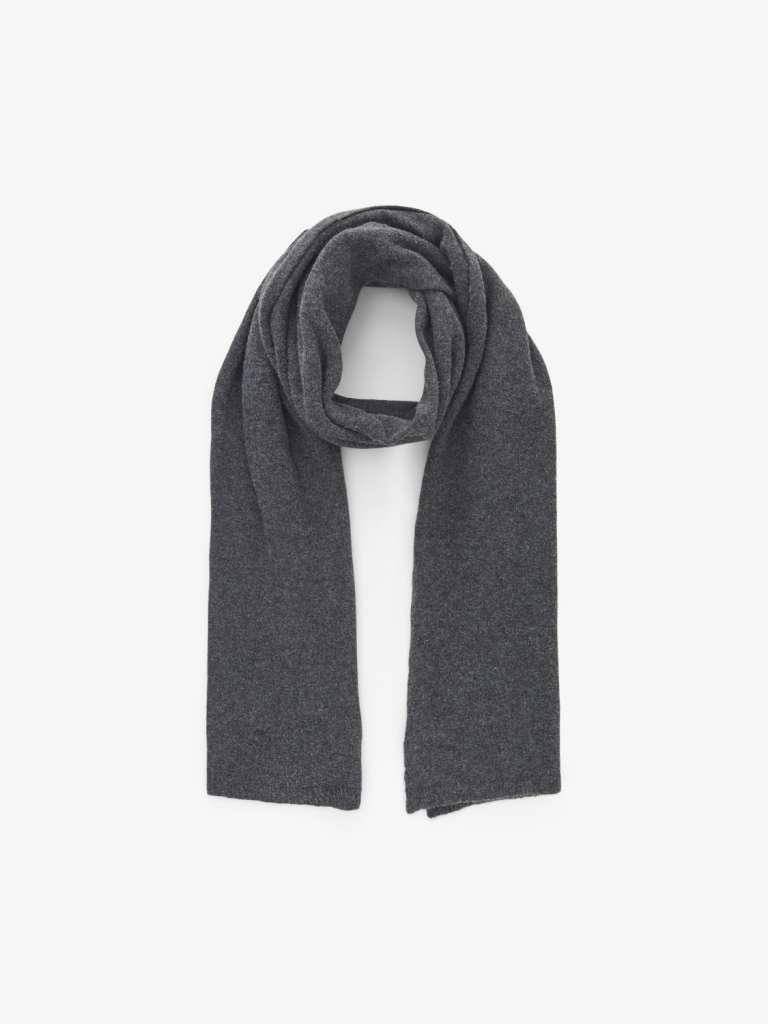 Debbi wool scarf . Mørk grå
