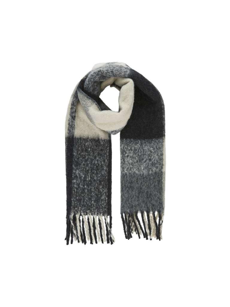 Bea long scarf . Medium grå
