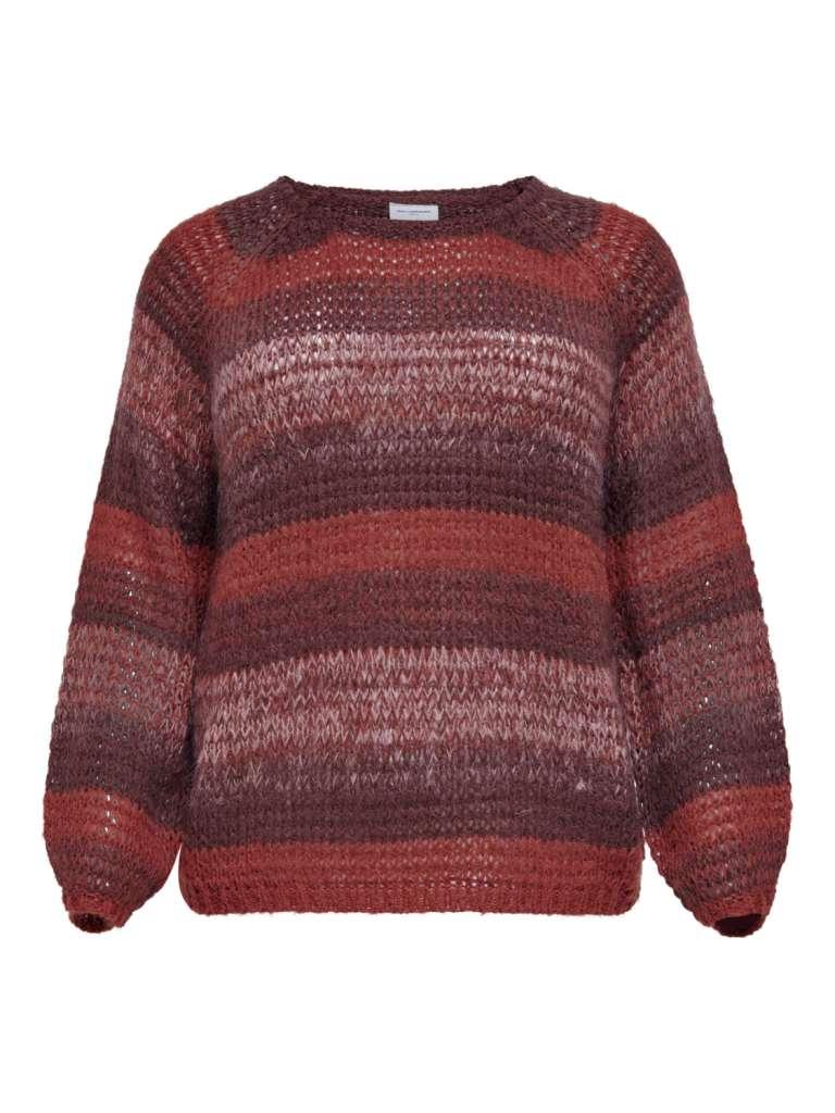 Maya stripe pullover knit