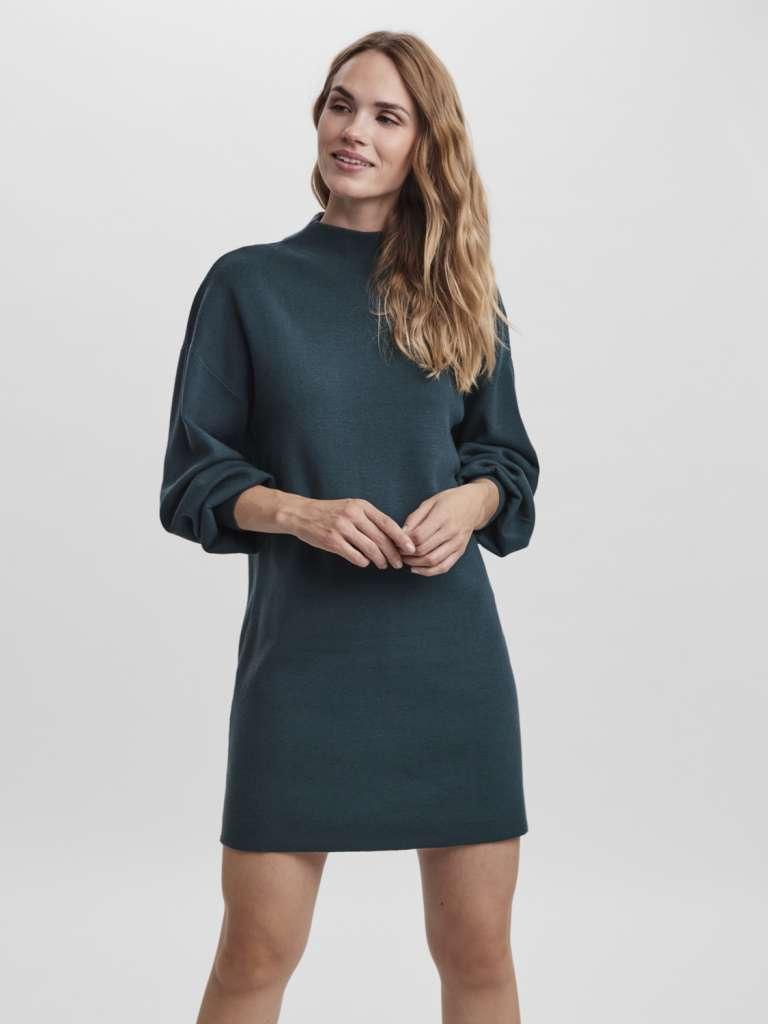 nancy funnelneck dress. Grønn