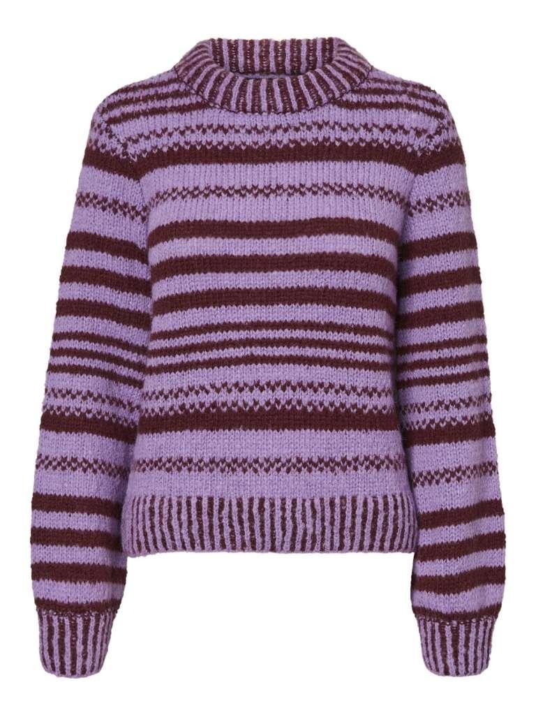 Newwine stripe blouse