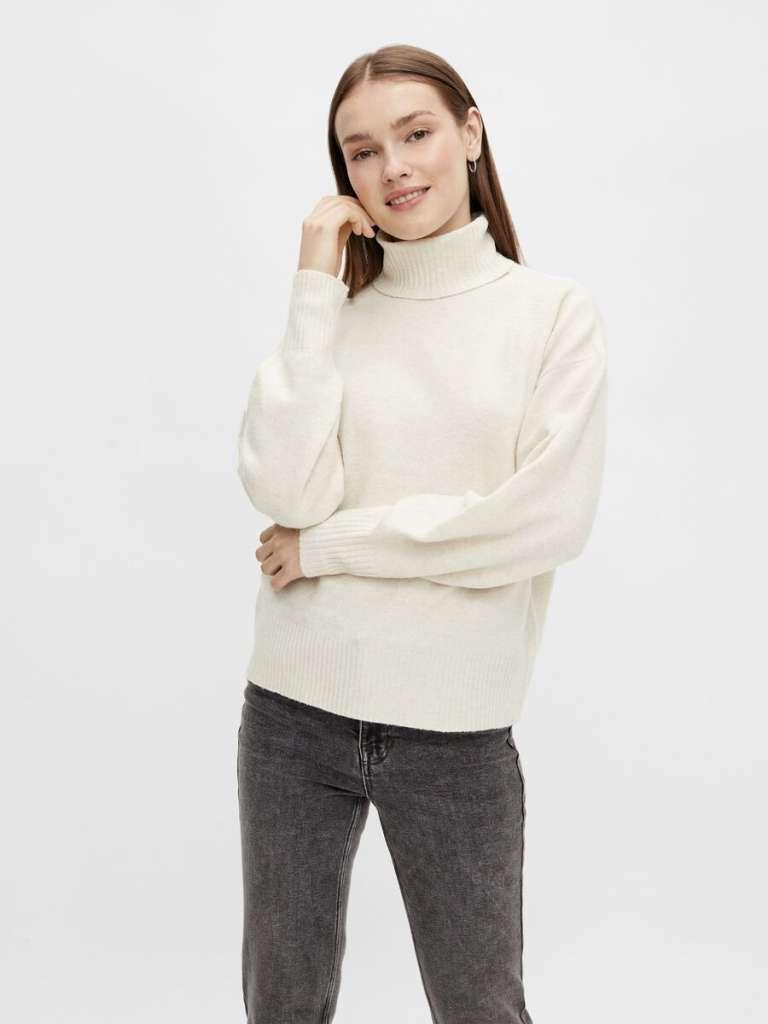 ava high neck knit. Birch