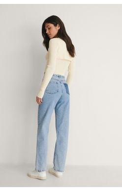 contrast pocket waist