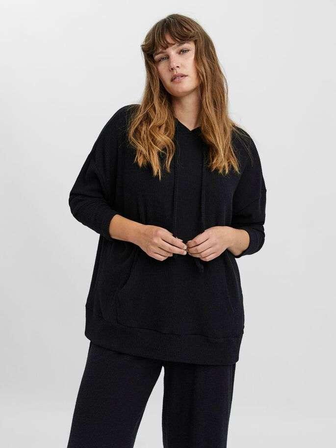 puffy hood blouse